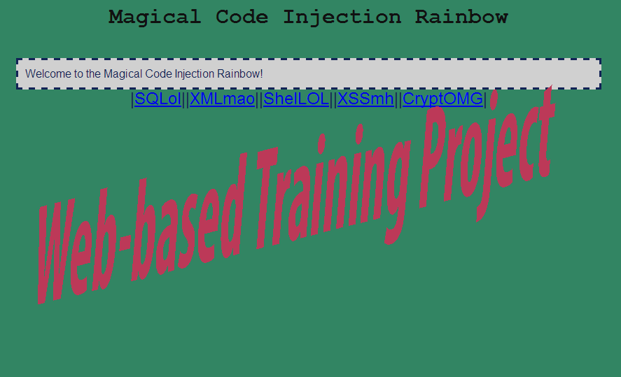 Magical Code Injection Rainbow (MCIR) feature