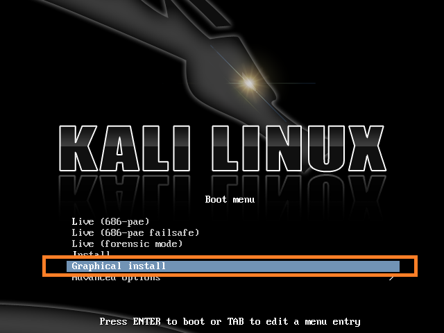 install Kali Linux 2.0 Graphical