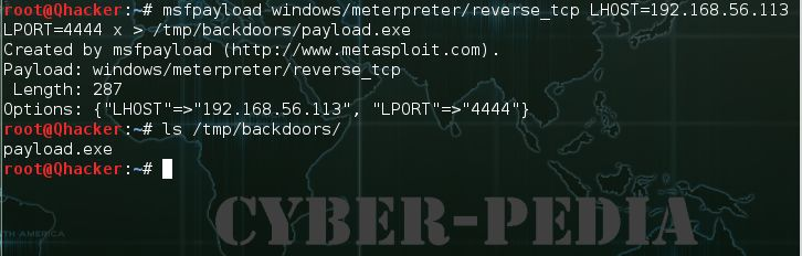 msfpayload create a backdoor