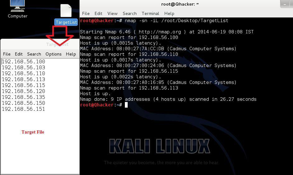 List Scan by Nmap in Kali Linux | Cyber Pratibha Blog