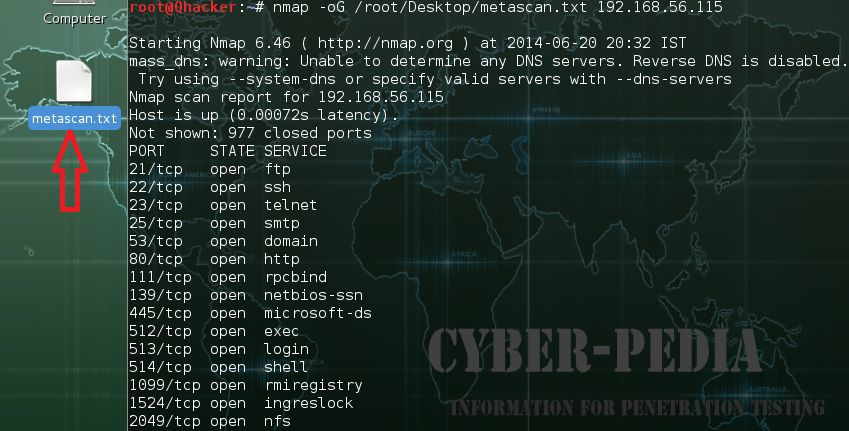 -oS ScRipt Kidd|# Output in Nmap