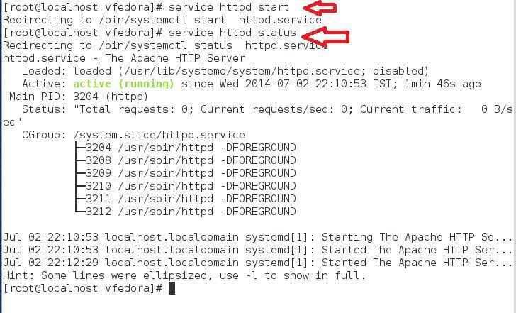 start service httpd