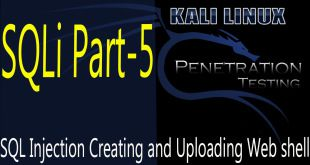 SQL Injection Attack Creating and Uploading Web shell | SQL injection test 5