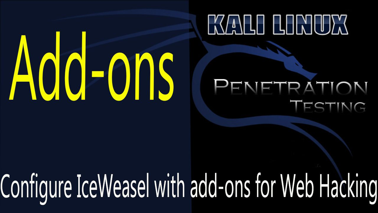 How to Configure IceWeasel Web Browser with add-ons for Web Penetration Testing