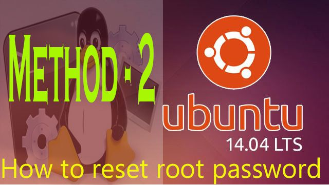 how to reset root password method 2