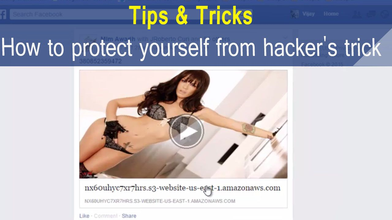 protect your serlf from hacker's trcik