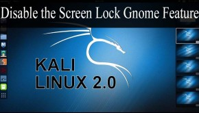 How to disable Kali Linux lock screen
