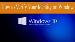 How to verify your account or identity on Window