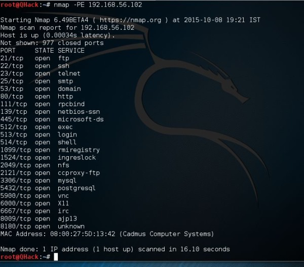 ICMP Echo Request Ping Nmap –PE