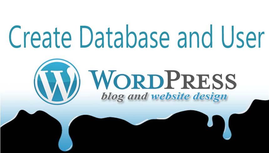 Create database user and Wordpress Database