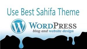 Use Sahifa Theme for Blogger to design website