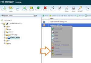 upload wordpress zip file