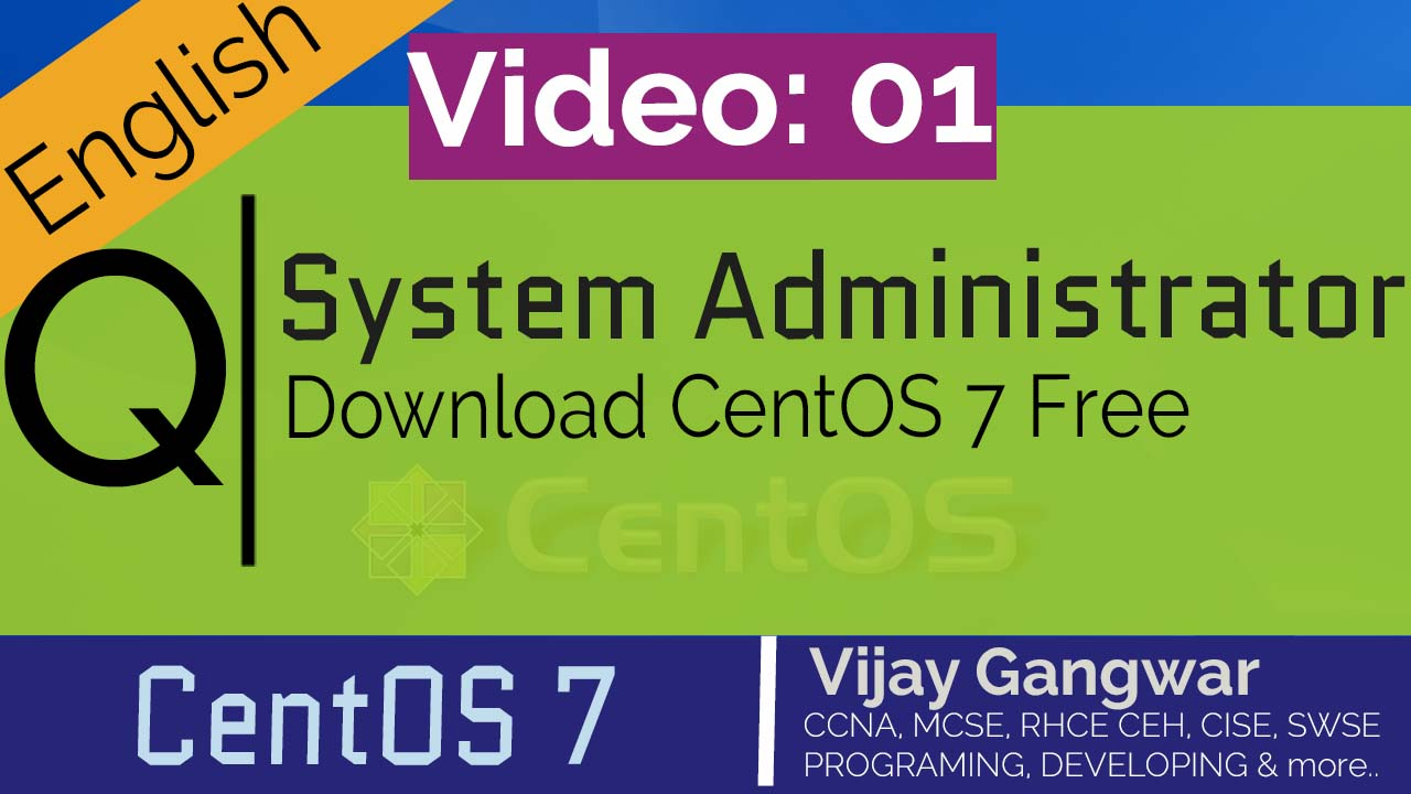 1 Download CentOS ISO image Free