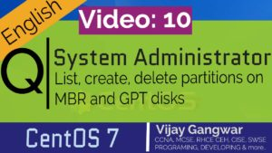 List, create, delete partitions on MBR and GPT disks