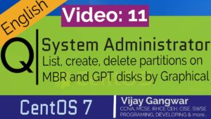 List, create, delete partitions on MBR and GPT disks by graphical