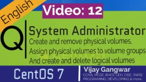 Create and remove physical volumes, assign physical volumes to volume groups, and create and delete logical volumes