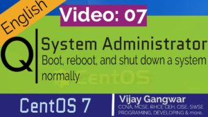 Boot, reboot, and shut down a system normally