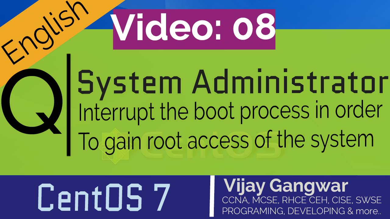 How to reset root password CentOS 7 [Updated] Interrupt the boot process