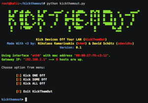 KickThemOut- how to kick someone off your wifi
