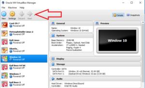 Start Windows guest machine