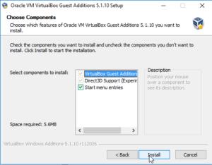 virtualbox guest additions Wizard -3