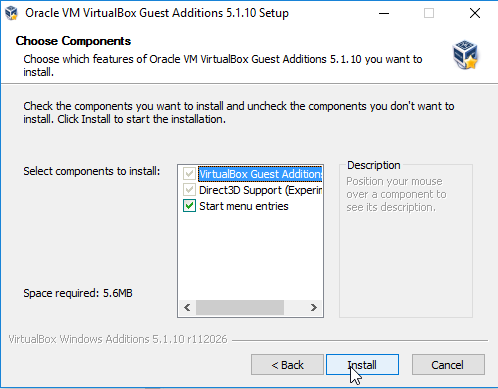 virtualbox guest additions Wizard -3