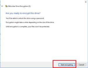 Encryption process