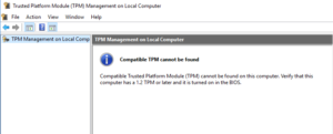 TPM are not found in your system