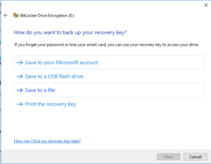 Where do you want to backup your key