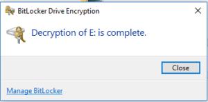 decryption process -