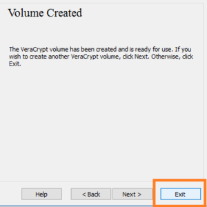 exit to come out veracrypt
