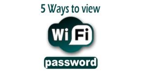 5 Ways to show my saved wifi password in Windows 10