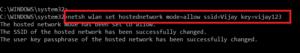 Creating the WiFi Hotspot in Windows 10