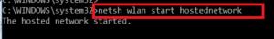 start hosted network