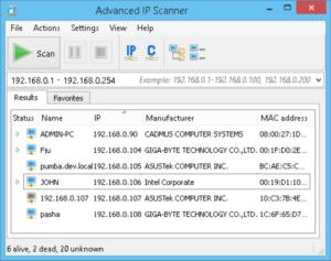Advanced Port Scanner
