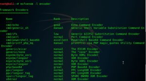 list of encoder in msfvenom