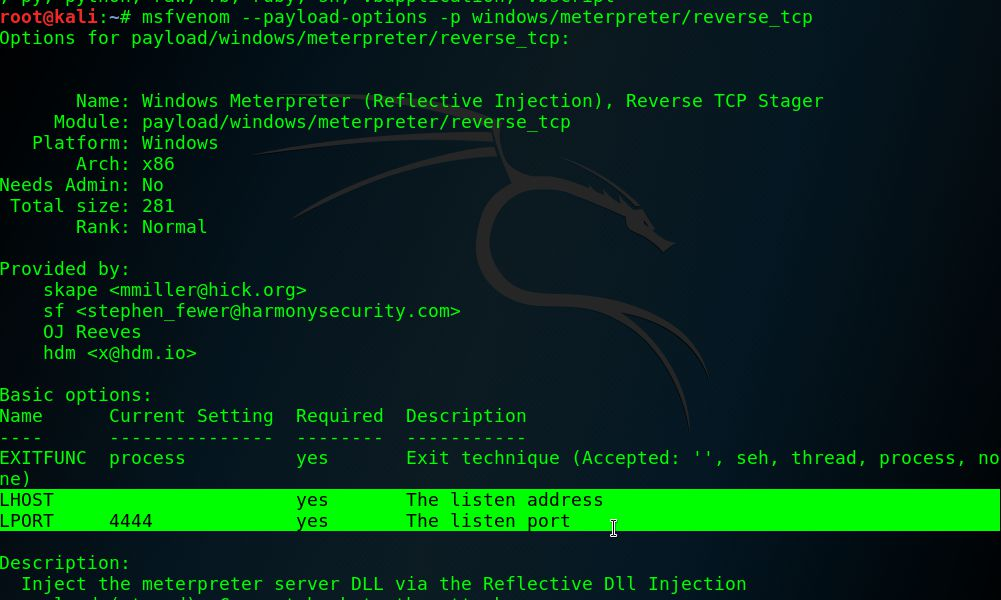 MSFvenom replacement of MSFpayload and msfencode