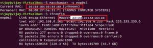check spoofed mac address