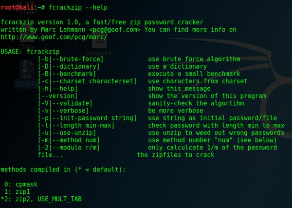 How to Crack zip password using fcrackzip in Windows and