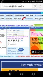 irctc.co.in login