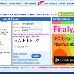 irctc.co.in login