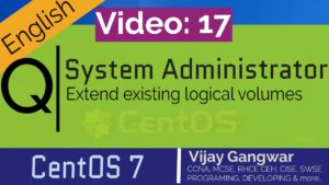17 Extend existing logical volumes