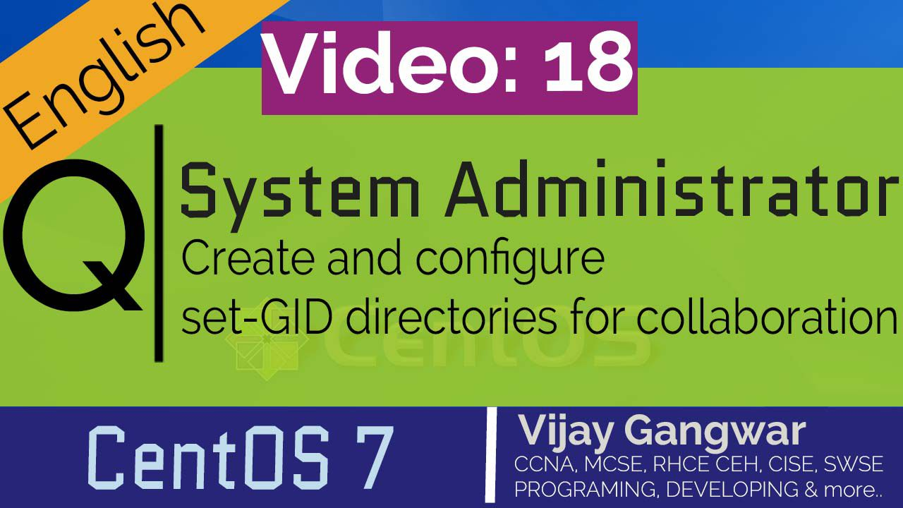 18 Create and configure set-GID directories for collaboration