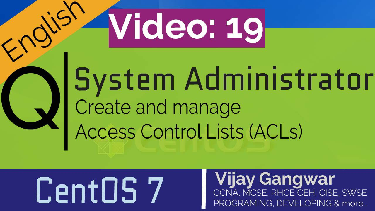 Create and manage Access Control List (ACL)