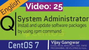 25 Install and update software packages by using rpm command