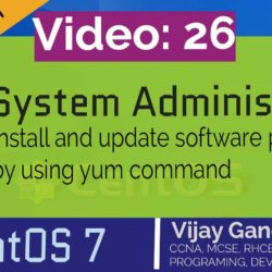 26 Install and update software packages by using yum command