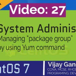 27 Manage package group by using Yum command