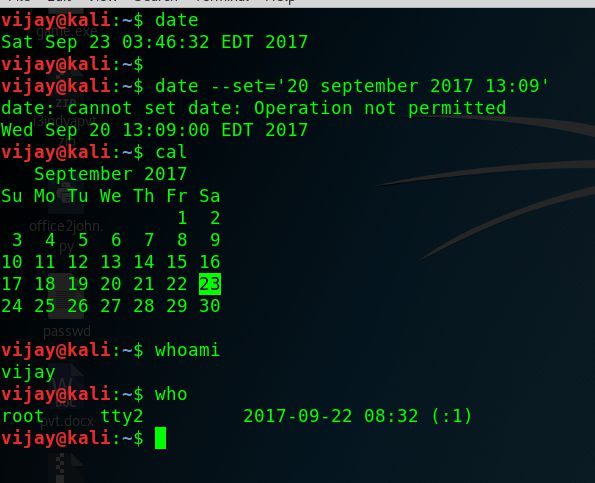 Kali linux commands basic 1