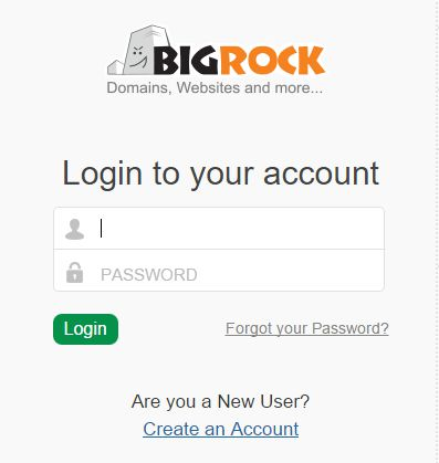 login with user name and password on birock