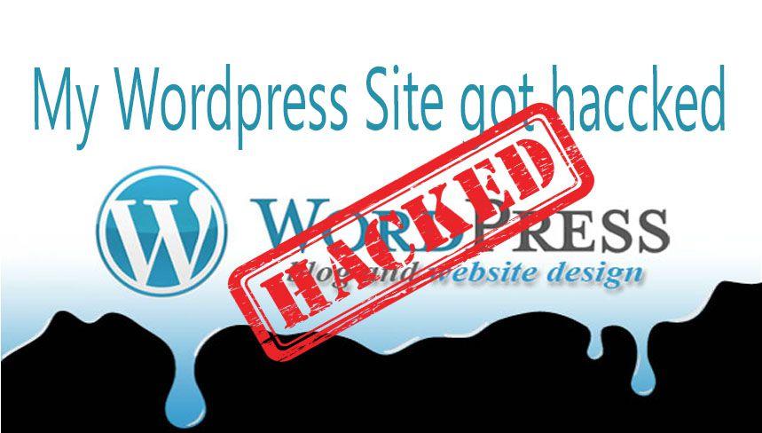 my wordpress website got hacked